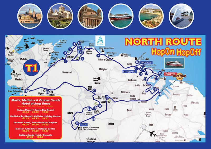North Route CitySightSeeing Malta Explore Malta on our Hop On
